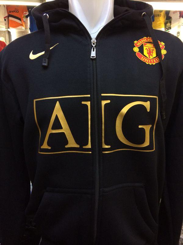 Jaket Hoodie Manchester United AIG Warna Hitam Nike