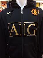 Jual Jaket Hoodie Manchester United AIG Warna Hitam Nike
