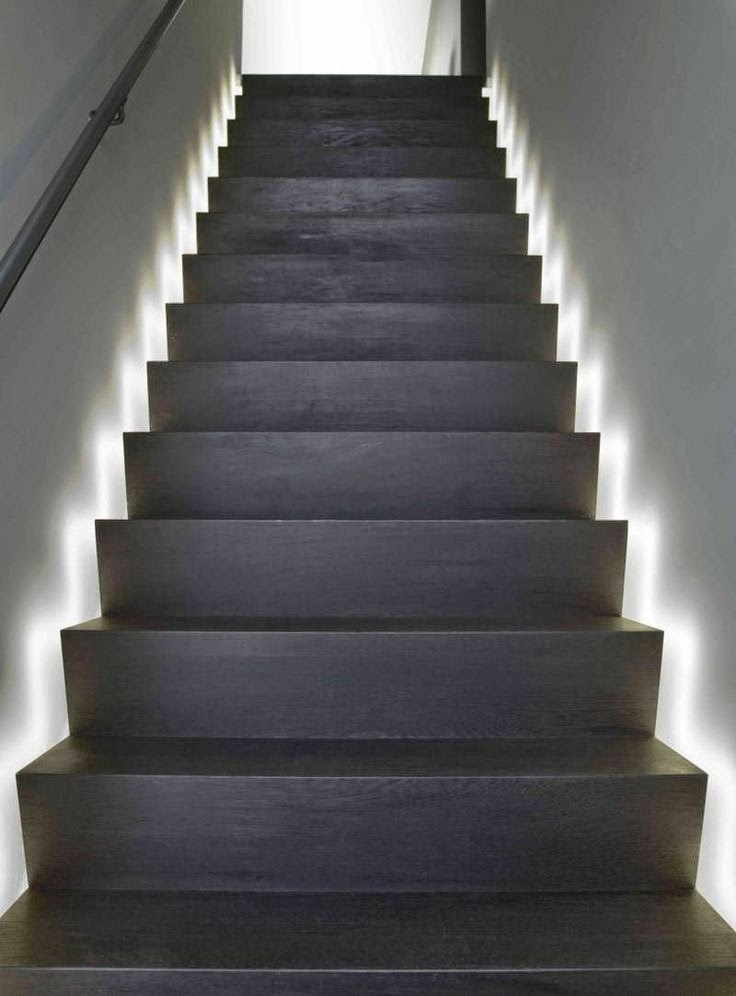stair lighting : smart ideas , step lights tips and ... on Led Interior Wall Sconces id=22755
