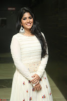 Megha Akash in beautiful White Anarkali Dress at Pre release function of Movie LIE ~ Celebrities Galleries 018.JPG