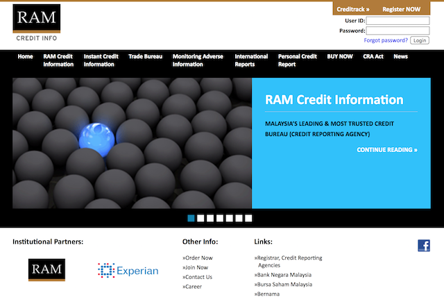 RAMCI Personal Credit Report