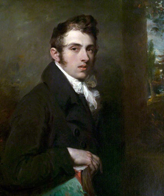 William Hilton, Self Portrait, Portraits of Painters, Fine arts, Portraits of painters blog, Paintings of William Hilton, Painter William