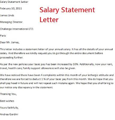 Salary Certificate Letter Sample - Design Templates