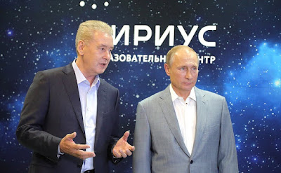 Vladimir Putin and Sergei Sobyanin in the Sirius Educational Center.