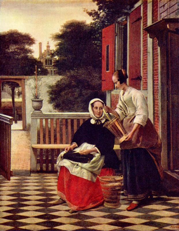 Pieter de Hooch - Хозяйка и ее горничная