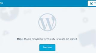 Successfully create wordpress blog