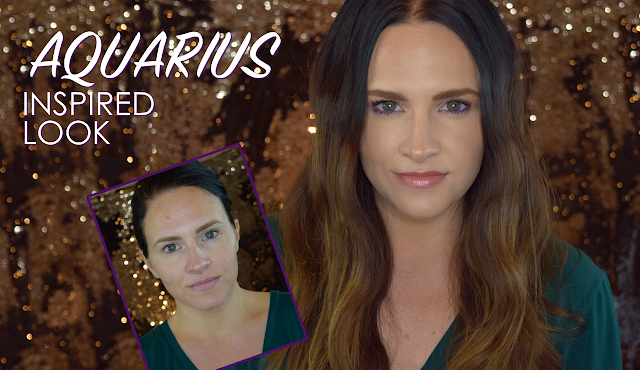 Aquarius Makeup, Fresh & Beachy Beauty, Beach Waves, Pink Eyeshadow, Star Sign Beauty