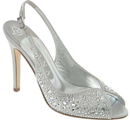 White Wedding Sandal Silver Sandals Fancy Shoes