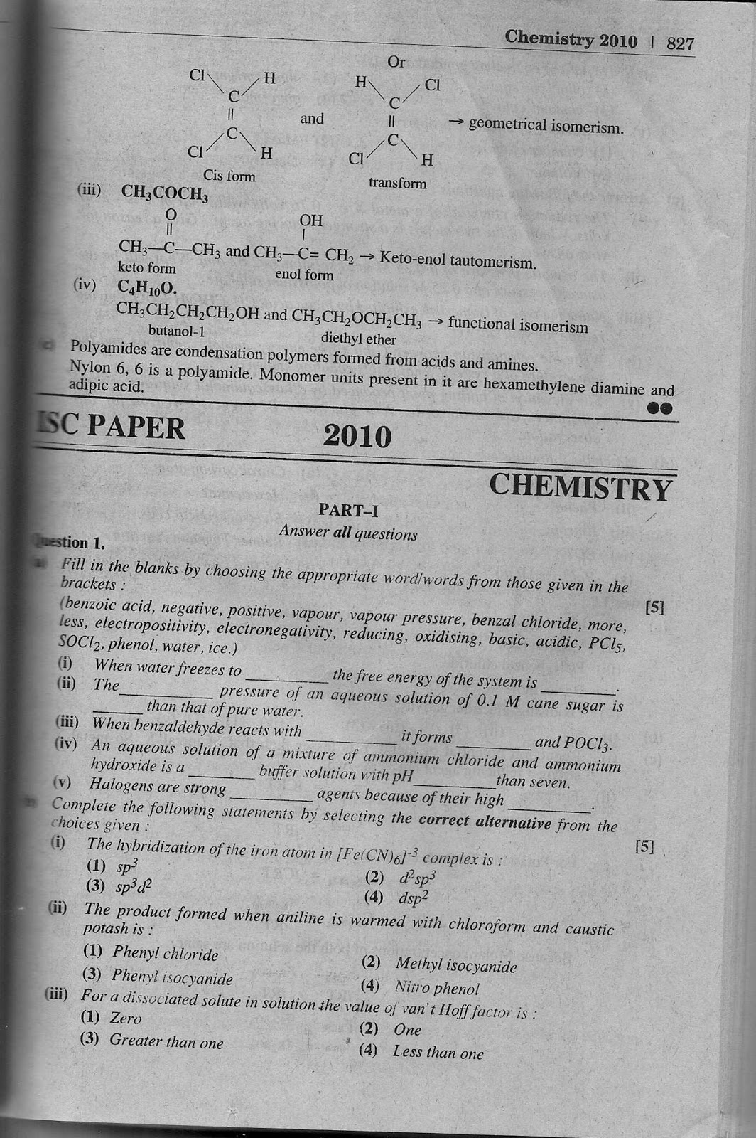Chemistry essays