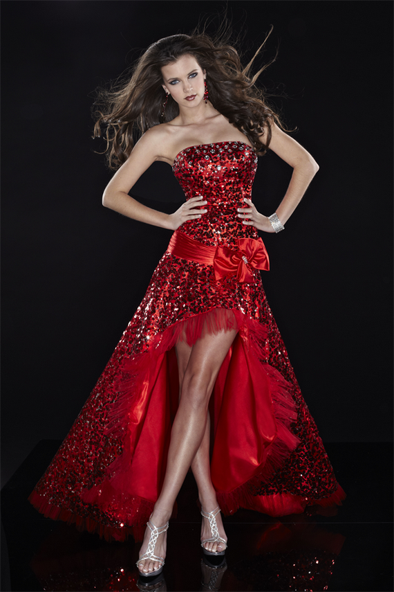 Women Red Party Fashion Dresses 2012 2013 Blondelacquer