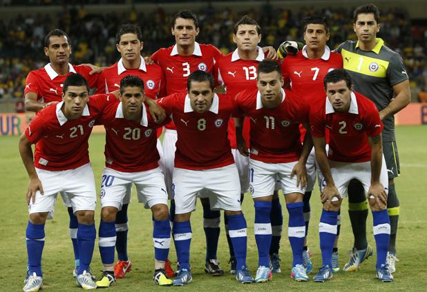 Formación de Chile ante Brasil, amistoso disputado el 24 de abril de 2013
