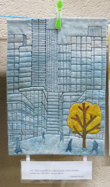 Mini quilt by Gabrielle Savioz - Challenge 2017 de la délégation suisse de France Patchwork