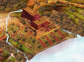 perkiraan bentuk situs gunung padang