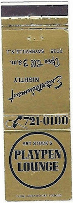 Playpen Lounge matchbook cover
