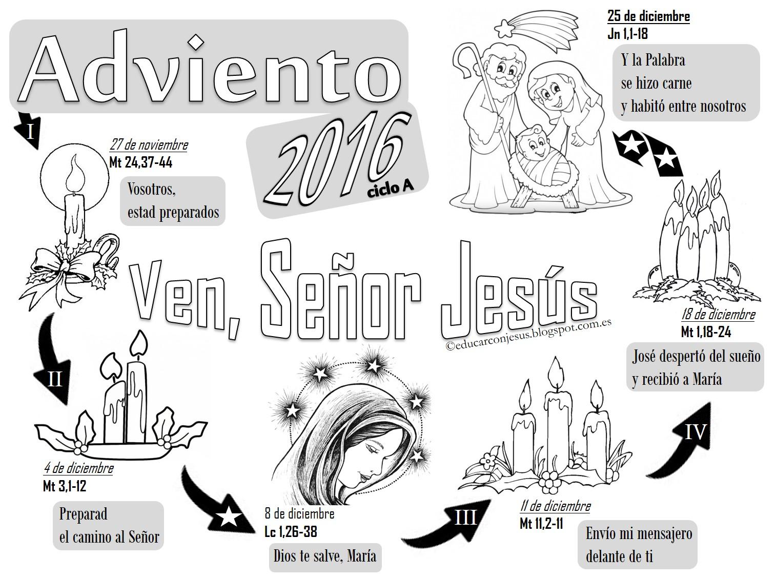 La Catequesis El Blog De Sandra Calendarios De Adviento