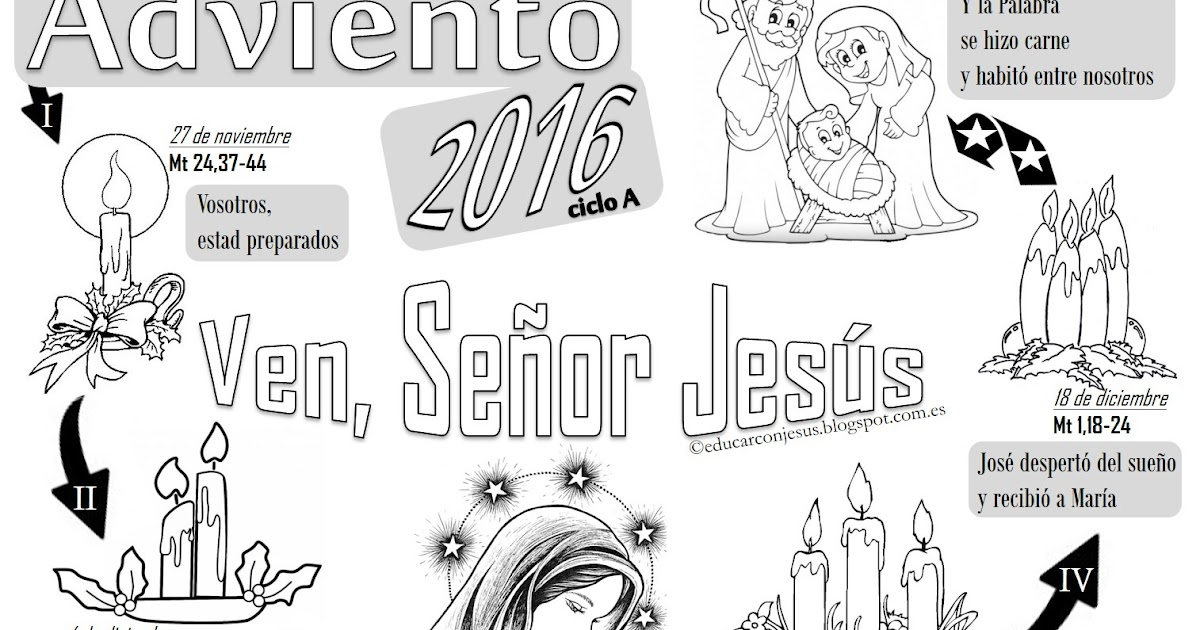 La Catequesis (El blog de Sandra): Calendarios de Adviento 2016 para ...