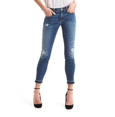 Gap Mid Rise Destructed True Skinny Jeans $26 (reg $80)