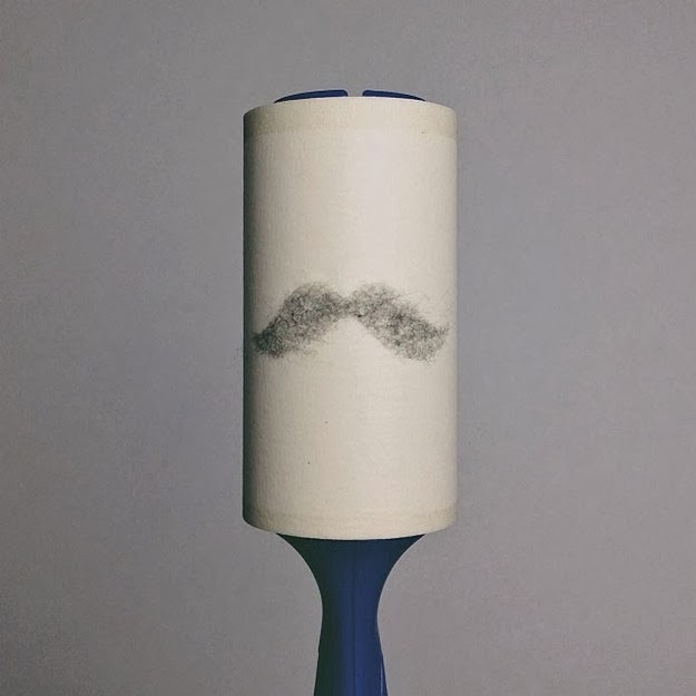 Lint Roller With Lint Mustache