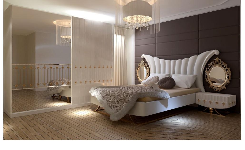 غرف نوم وتنسيق الوان