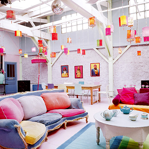 Interesting Home Decor Ideas: Unique Colorful Interior Designs Ideas