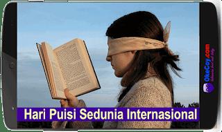 Sejarah Hari Puisi Sedunia Internasional