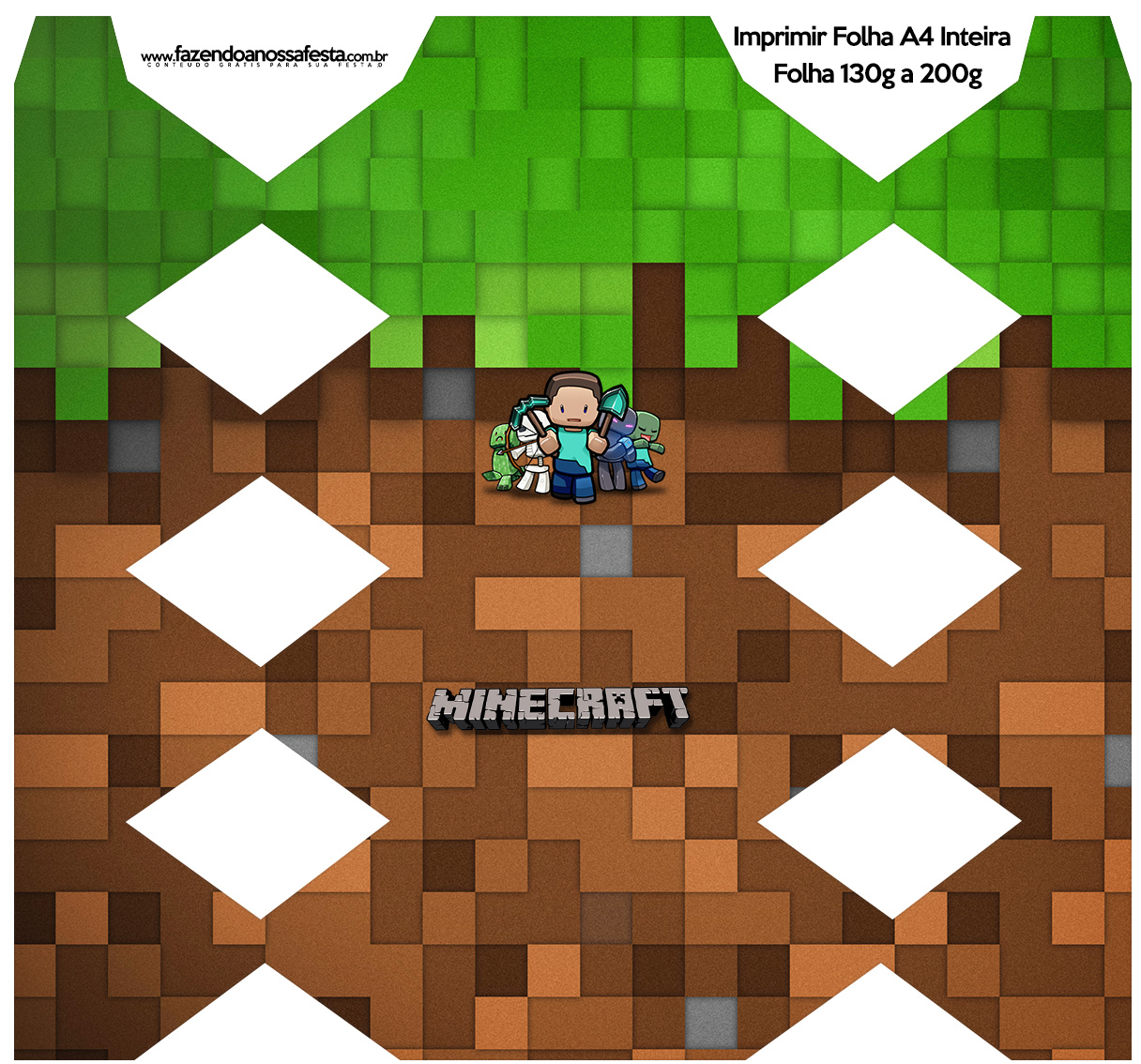 Minecraft Cajas Para Imprimir Gratis Oh My Fiesta Friki