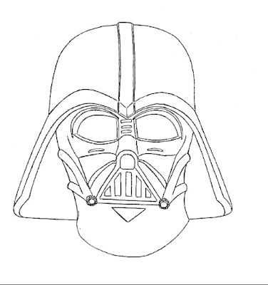 How To Draw Cartoon Darth Vader and coloring page - Coloring Page