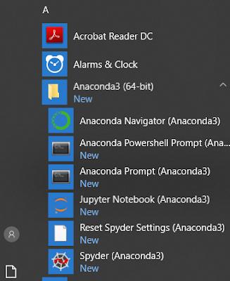 Anaconda installation menu options