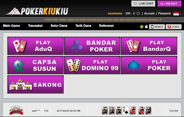 Permainan Judi Poker Online Yang Disediakan PokerKiuKiu