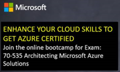 Robert's BlogSpot: Webinar Training - Prepare for the Azure