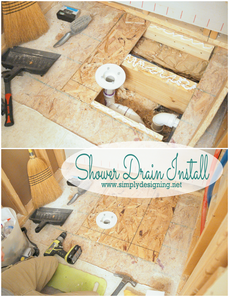 How to Install a New Shower Drain | #shower #bathroom #remodel #diy #thetileshop @thetileshop