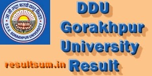 DDU Gorakhpur University Result 2015