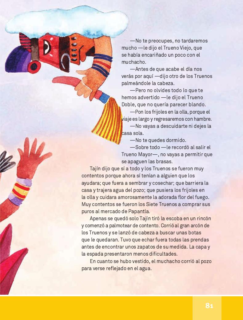 Tajín y los siete Truenos - Español Lecturas 4to ~ Apoyo