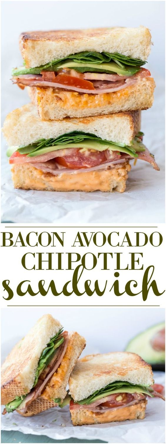 Bacon Avocado Tomato Chipotle Sandwich
