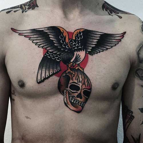 eagle and skull tattoo