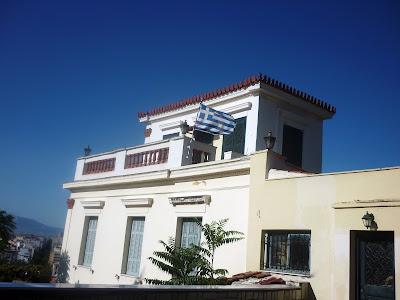 House With Greece Flag by Igor L.