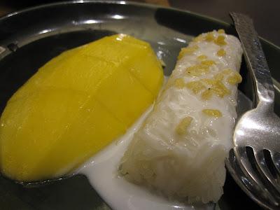 Bangkok, Nara Thai Cuisine, mango sticky rice