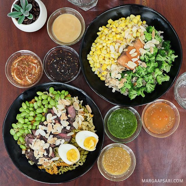 Menu salad dan dressing di Farm To Table - Alam Sutera, Tangerang