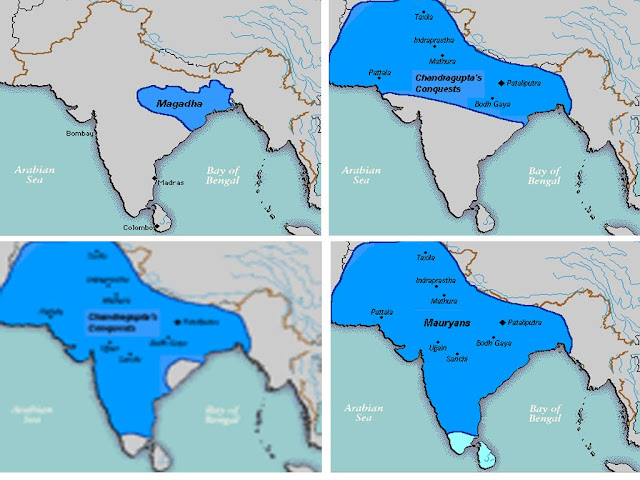 Indian map during maurya rule