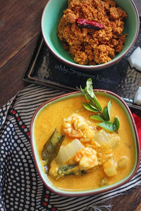 My Singapore Kitchen        : Konjum Vellarikka Aviyal