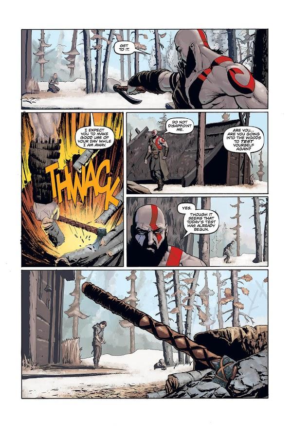 god of war prequel dark horse comics tony parker