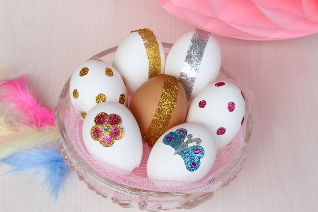 huevos purpurina