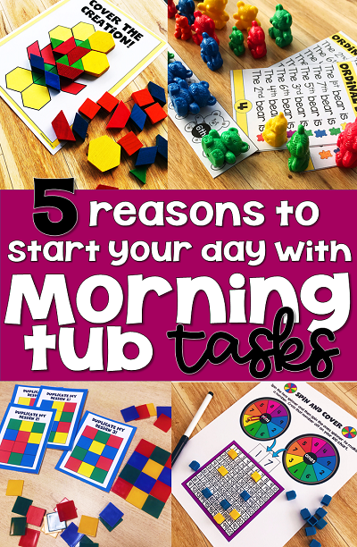 first grade morning work morning tubs