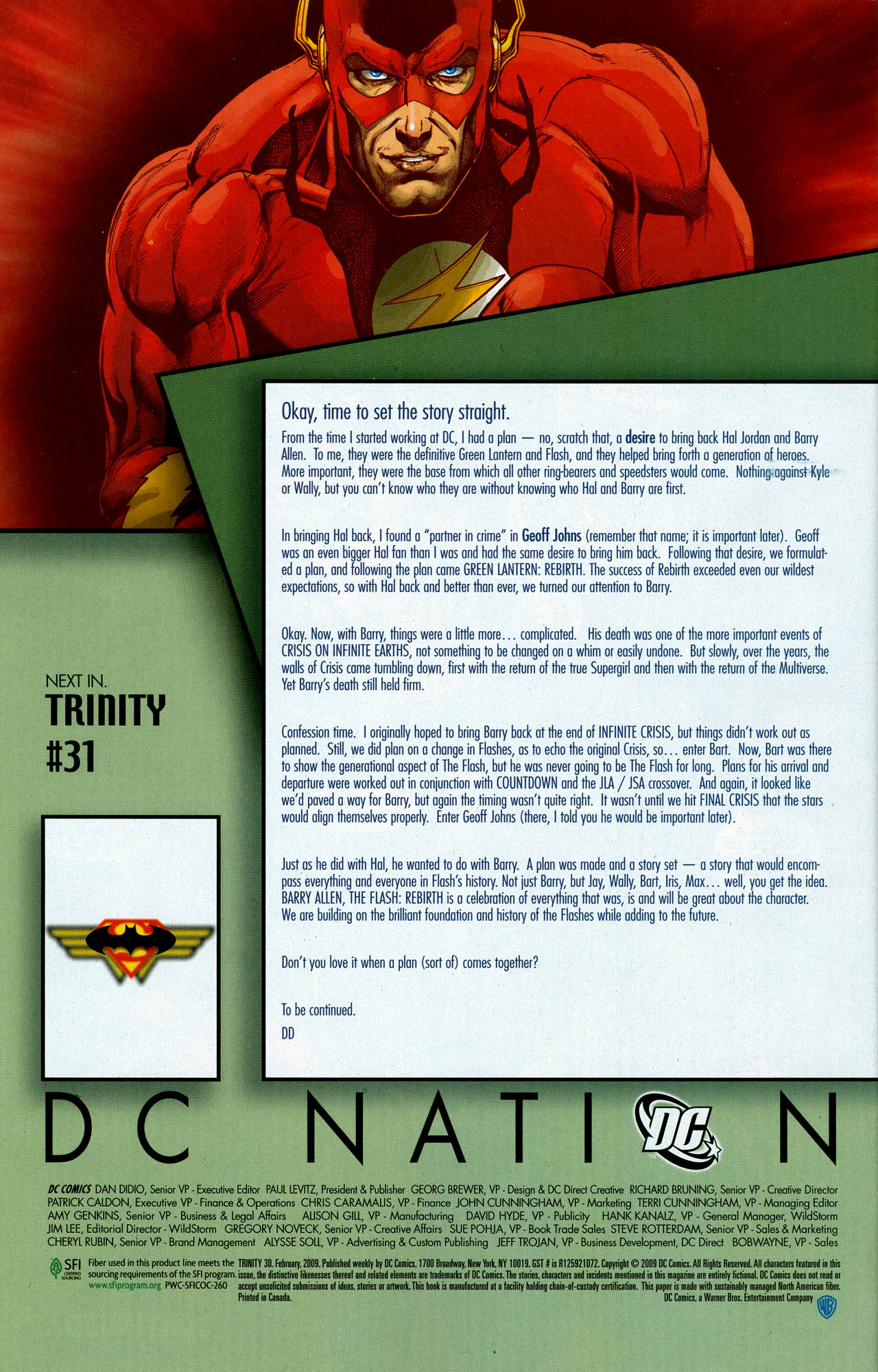 Read online Trinity (2008) comic -  Issue #30 - 35