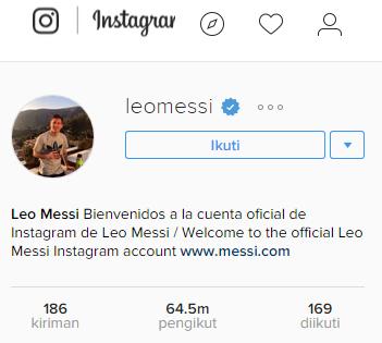 Messi,Instagram,Leonil messi,Followers,Sosial media