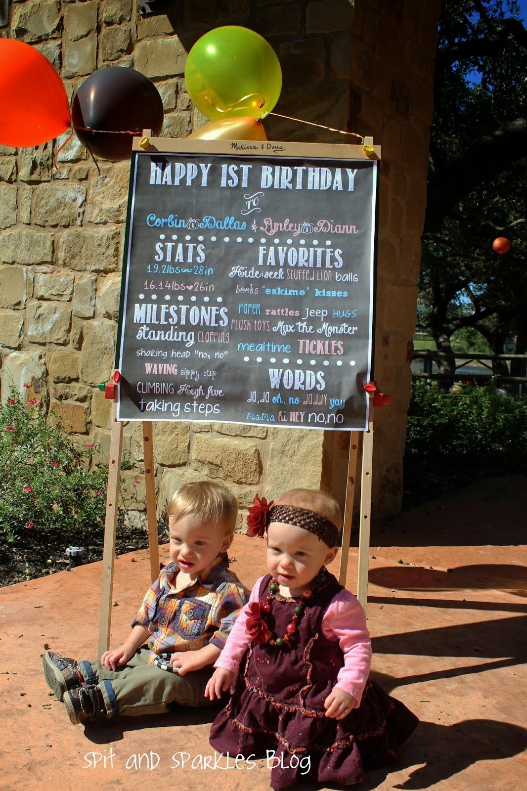 Sugar and Pumpkin Spice First Birthday #twins #firstbirthday
