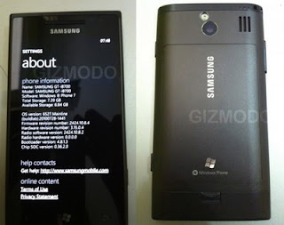 Samsung GT-i8700 Windows 7 phone spotted