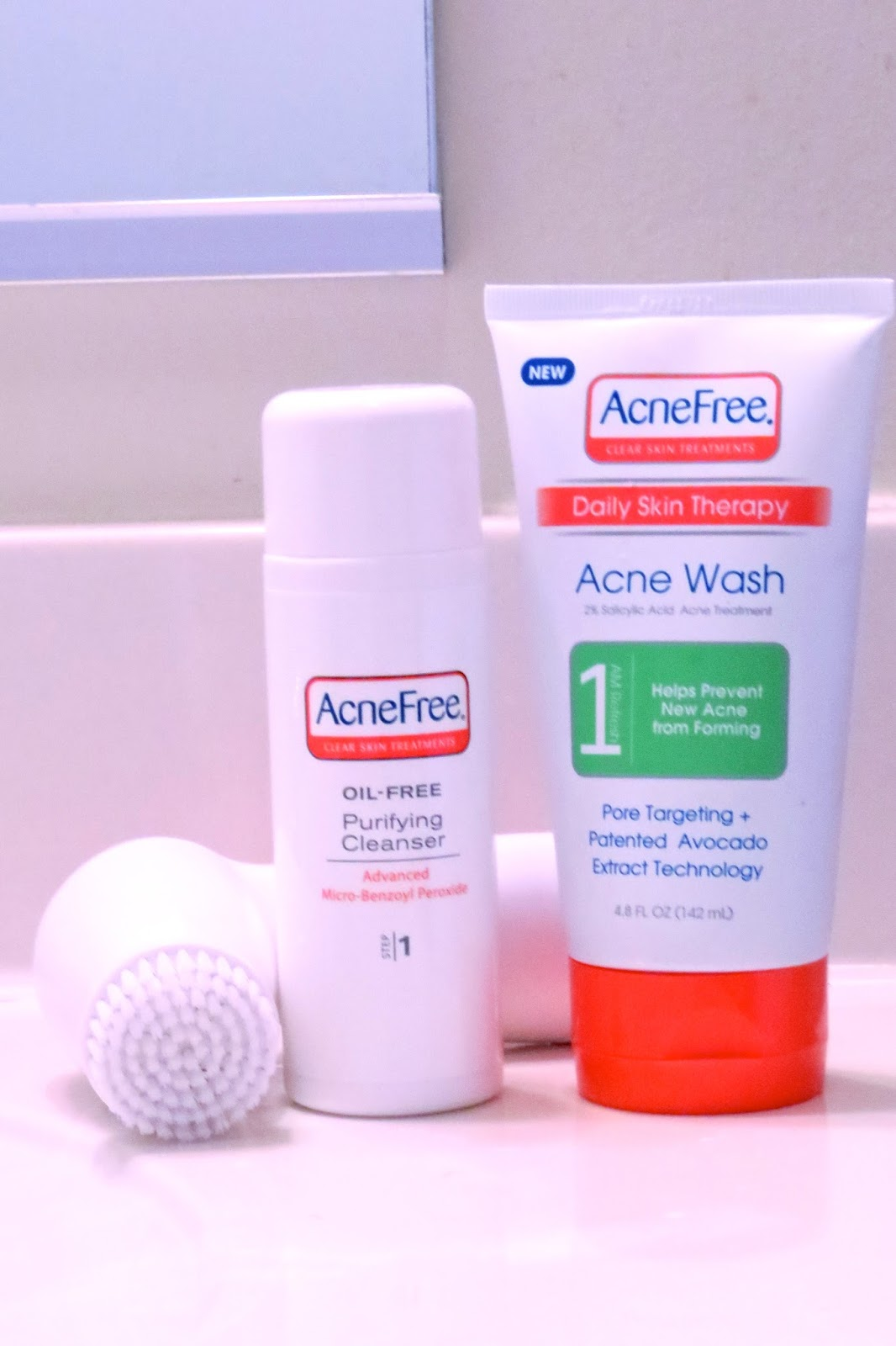 AcneFree Face cleansing products