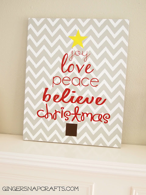 How to make this adorable, Easy Christmas Art!! Such a fun project. Display or give as a gift!!