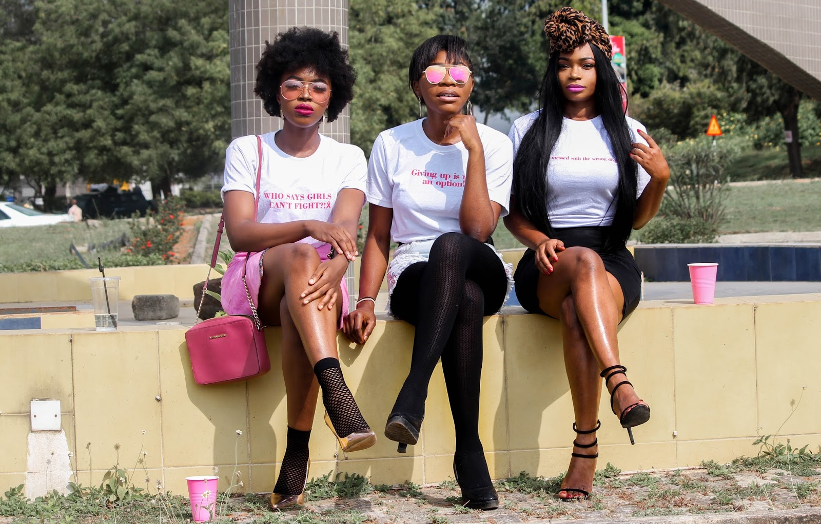SAVE THE BOOBIES | NIGERIAN BLOGGERS FOR BREAST CANCER - JustPorsh, Bella and Kachi for Breast Cancer Awareness by Nigerian Fashion Bloggers